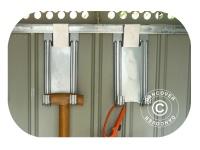 Stahlhaken für Geräteschuppen Metallgerätehaus, ProShed, 4 St.