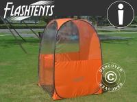 Zuschauer-Faltzelt, FlashTents®, 1 Person, Orange/Dunkelgrau
