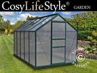 Greenhouse 1, 9x3, 12x2, 01m Green (6x10')190x312x201cm G1001F-D, frame plinth 8cm5, 93m2 G100F-D