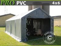 Lagerzelt PRO 4x6x2x3, 1m, PVC, Grau