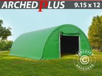 Rundbogenhalle 9, 15x12x4, 5m PVC, Grün