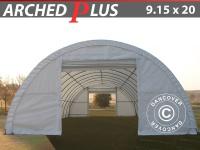 Rundbogenhalle Lagerzelt Zeltgarage Lagerzelt Garagenzelt Garagenzelt 9, 15x20x4, 5m PVC, Weiß