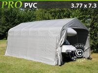 Zeltgarage PRO 3, 77x7, 3x3, 24m PVC, Grau