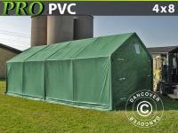 Lagerzelt PRO 4x8x2x3, 1m, PVC, Grün