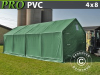 Lagerzelt Zeltgarage Lagerzelt Garagenzelt Garagenzelt PRO 4x8x2x3, 1m, PVC, Grün