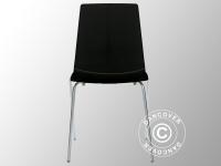 Stuhl, Lollipop, Schwarz glänzend, 6 Stück