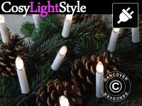 LED Weihnachtsbaumkerzen, 5m, 20 Kerzen, multifunktional, Warmweiß