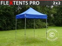 Faltzelt Faltpavillon Wasserdicht FleXtents PRO 2x2m Blau