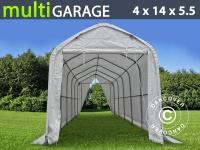 Zelthalle multiGarage Bootszelt 4x14x4, 5x5, 5m, Weiß