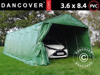 Zeltgarage Lagerzelt Garagenzelt PRO 3, 6x8, 4x2, 7m PVC, Grün
