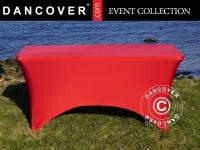 Stretch Tischüberzug 244x75x74cm, Rot