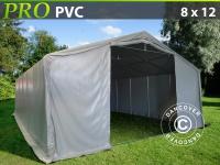 Lagerzelt Zeltgarage Lagerzelt Garagenzelt Garagenzelt PRO 8x12x4, 4m PVC, Grau