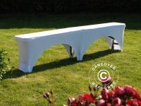 Elastische Bierbankhussen 183x28x43cm, Weiß