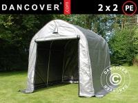 Lagerzelt Zeltgarage Lagerzelt Garagenzelt Garagenzelt PRO 2x2x2m PE, Grau