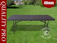 Klapptisch 180x74x74cm, schwarz (1 St.)