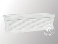 Blumentopf Millerighe, 25x55x23, 5cm, Weiß