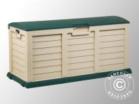 Gartenbox, 140x61x69cm, Grün/Beige