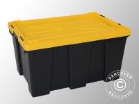 Hochleistungsfähige Aufbewahrungsbox, Strong, 72, 5x49, 5x38, 5cm, schwarz/gelb
