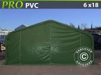Lagerzelt PRO 6x18x3, 7m PVC, Grün