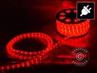 Lichtschlauch, 50m LED, Ø 1, 2cm, Mehrfachfunktion, Rot