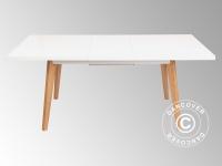 Esstisch mit Erweiterung, Roma, 140/180x90x75cm, Weiß/Eiche