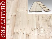Partyzelt Festzelt Pavillon-Holzfußboden, 150x50x2, 2cm, Kieferholz, 0, 75 m2