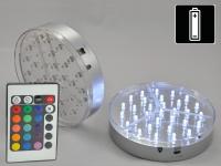 LED-Leuchtsockel Ø15cm, 2 Stück, Mehrfarbig