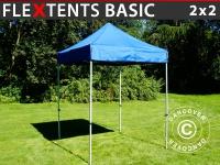 Faltzelt FleXtents Basic, 2x2m Blau