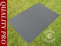 Partyboden und Bodenschutzmatte, 80x120x6mm, schwarz, 1 St.