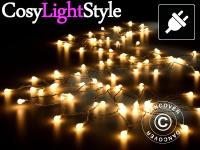 Lichterkette LED, multifunktional, 10m, 100 Kugeln, warmweiß