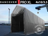 Lagerzelt PRO XL 4x10x3, 5x4, 59m, PVC, Grau