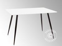 Esstisch, Siena, 120x80x76cm, Weiß/Schwarz