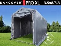 Lagerzelt PRO XL 3, 5x8x3, 3x3, 94m, PVC, Grau