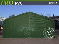 Lagerzelt PRO 8x12x4, 4m PVC, Grün