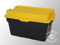 Hochleistungsfähige Aufbewahrungsbox, Elephant XL, 80x51x45cm, schwarz/gelb