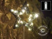 LED-Stern, klein, Garden, 16cm, Grün/ Warmweiß, 2 St.