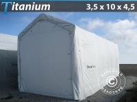 Lagerzelt Zeltgarage Lagerzelt Garagenzelt Garagenzelt Titanium 3, 5x10x3, 5x4, 5m, Weiß
