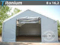 Lagerzelt Titanium 8x16, 2x3x5m, Weiß / Grau