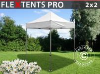 Faltzelt Faltpavillon Wasserdicht FleXtents PRO 2x2m Weiß