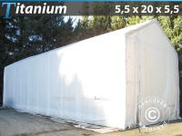 Lagerzelt Titanium 5, 5x20x4x5, 5m, Weiß