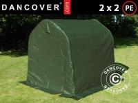 Lagerzelt Zeltgarage Lagerzelt Garagenzelt Garagenzelt PRO 2x2x2m PE, Grün