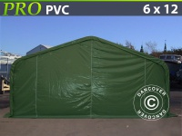 Lagerzelt Zeltgarage Lagerzelt Garagenzelt Garagenzelt PRO 6x12x3, 7m PVC, Grün
