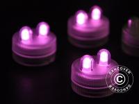 LED Floralyte-Lichter Ø3cm, 20 Stück, Rosa