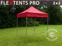 Faltzelt Faltpavillon Wasserdicht FleXtents PRO 2x2m Rot