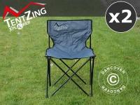 Campingstuhl, zusammenklappbar, TentZing®, Grau, 2 Stk.