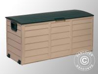 Gartenbox, 114x52x56cm, Grün/Beige