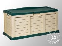 Gartenbox, 141x61x71, 5cm, Grün/Beige