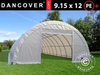 Rundbogenhalle Lagerzelt 9, 15x12x4, 5m, PE, weiß