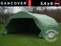 Doppel Zeltgarage Lagerzelt Garagenzelt 5, 4x6x2, 9m PVC, Grün