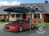 Carport Boston, 3x4, 34m, Dunkelgrau